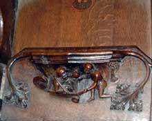 Ripon, cathédrale: détail des stalles. Vers 1500. (Histoire de l'art - Quattrocento