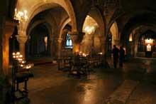 Canterbury: la crypte de la cathédrale