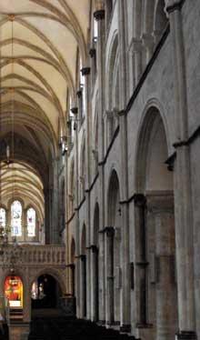 Chichester: la nef de la cathédrale