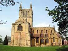 Pershore, Worcestershire: l'abbaye bénédictine. Vers 100