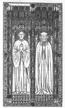Roger et Agnès Thornton (1441). Brass de la cathédrale Saint Nicholas, Newcastle upon Tynel