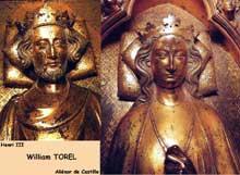 William Torel. Portrait du roi HenriIII et portrait de la reine Aliénor de Castille