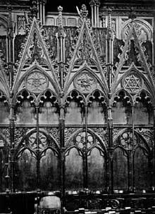 Cathédrale de Winchester: les stalles