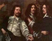 William Dobson: le peintre avec Sir Charles Cottrell et Sir Balthasar Gerbier. Vers 1645. Huile sur toile. Guildford, Albury Park