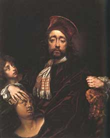 Isaac Fuller: autoportrait. Londres, National Portrait Gallery