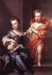 Sir Godfrey Kneller: Edward and Lady Mary Howard. Huile sur toile, Londres, Dulwich Picture Gallery