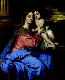 Sir Peter Lely: Portrait de Barbara Villiers, duchesse de Cleveland, avec son fils. Vers.1664. Huile sur toile, 124.7cm x 102cm. Londres, National Portrait Gallery