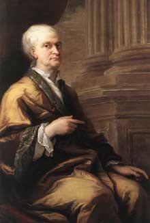 James Thornhill: portrait d'Isaac Newton vieux. 1709-1712. Huile sur toile, Woolsthorpe Manor, Lincolnshire