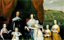 Cornelius Janssens Van Ceulen: portrait du baron Arthur Capel et de sa famille. 1640
