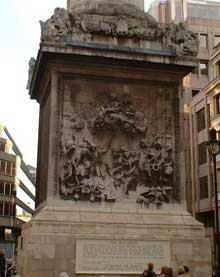 Caius Gabriel Cibber ( 1700): relief du monument de l'incendie de Londres. Londres, City