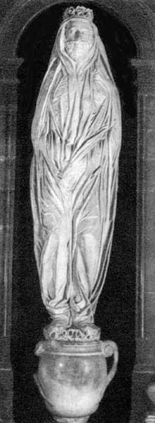 Nicolas Stone: tombeau du poète John Donne. 1631, marbre. Londres Cathédrale saint Paul