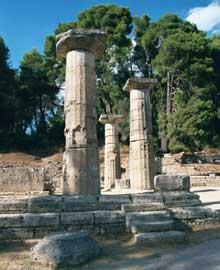 Olympie: le temple d'Héra. (Art grec)