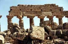 Sélinonte: le temple C. Construit à partir de 550 avant JC. (Art grec)
