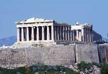 Athènes: le Parthénon. (Art grec)