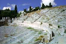 Athènes: le théâtre de Dionysos. La cavea. (Art grec)