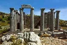 Phygalie – Bassae: le temple d'Apollon Epicourios. (Art grec)