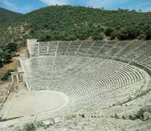 Epidaure: le théâtre. (Art grec)