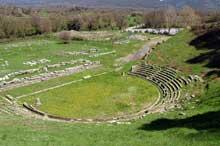 Mégalopolis en Péloponnèse: le théâtre. (Art grec)