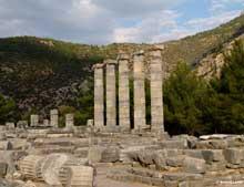 Priène: le temple d'Athéna Polias par Pythéos (335): vue générale. (Art grec)