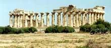 Sélinonte: le temple E consacré à Héra. 460-450 avant JC. (Art grec)