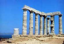 Cap Sounion: le sanctuaire de Poséidon. (Art grec)