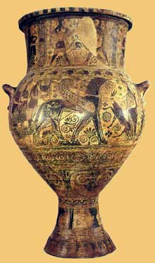 Vase protocorinthien. VIIè siècle avant JC. (Art grec)