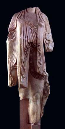 Korê 594. Athènes. Vers 510 avant JC. Athènes, Musée de l'Acropole. (Art grec)