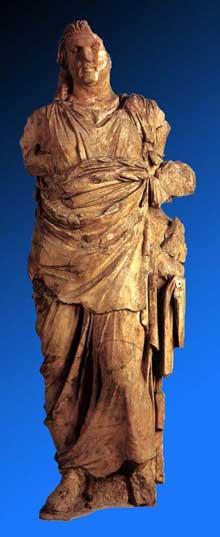 Scopas de Paros: le mausolée d'Halicarnasse: statue de Mausole. 360-350. 300 cm. Londres, British Museum. (Art grec)