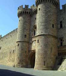 Ile de Rhodes: le palais gothique du «Grand maître». L'entrée