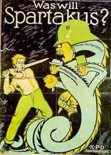 Affiche du mouvement spartakiste