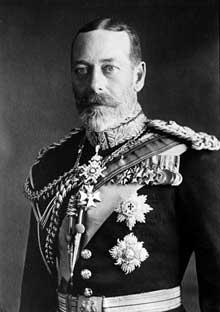 Le roi Georges V (1865-1936) de la maison de Saxe-Cobourg et Gotha