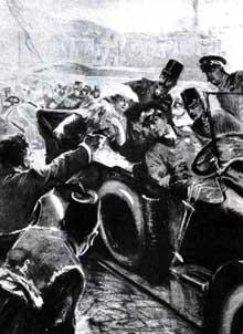 26 juin 1914 : assassinat de l'archiduc François Ferdinand et de son épouse Sophie par Gavrilo Prinzip : le feu aux poudres