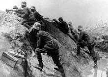 Avant l'assaut. Troupes allemandes en Champagne, 1917