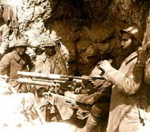 Fusiliers-mitrailleurs dans l'Artois