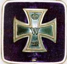 La croix de fer de première classe. 1914