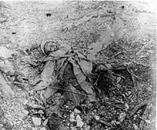 Verdun : soldat français mort