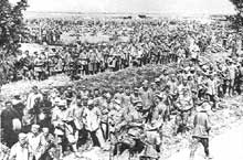 Prisonniers allemands après le 8 août 1918, le « jour noir » de l'armée allemande