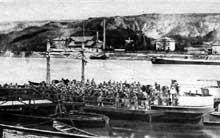 Les troupes françaises traversent le Rhin le 16 décembre pour occuper la rive droite du fleuve