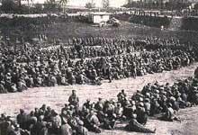 Soldats russes prisonniers lors de la bataille de Tannenberg, fin août 1914