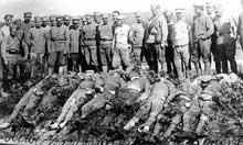 Guerre civile russe : bolcheviks tués par les « Blancs » à Vladivostok
