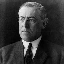 Le président américain Woodrow Wilson (1856-1924)