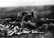 L'artillerie américaine en oeuvre au saillant de Saint Mihiel
