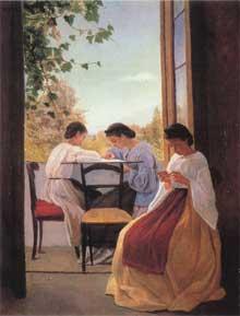 Adriano Cecioni: les brodeuses. 1866