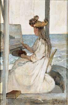 Giovanni Fattori: l'apprentie peintre