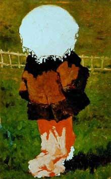 Vito d'Ancona: femme au parasol. Rome, galerie d'art moderne.