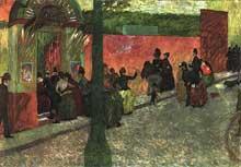 Federico Zandomeneghi: entrée du moulin de la Galette. 1878, 80x120cm