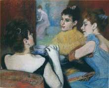 Federico Zandomeneghi: Le thé, 1890-1893. Collection privée