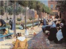Federico Zandomeneghi: la place d'Anvers. 1880