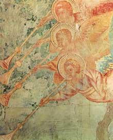 Cimabue. Le Christ de l'Apocalypse (détail). 1280-1283. Fresque, 350 x 300 cm, Assise, église supérieure saint François