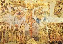 Cimabue (1240/50-1302): Crucifix (1280-1283).Fresque, 350 x 690cm; Assise, église supérieure saint François